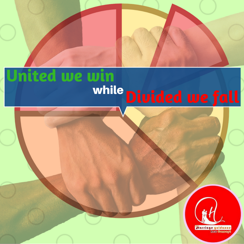 United we win while divided we fall